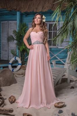 Вечернее платье 06 персик