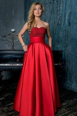 Вечернее платье 0892 красный