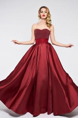Вечернее платье 0892 бордовый