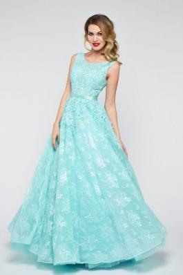 Вечернее платье 0895 мята