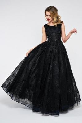 Вечернее платье 0895 черный