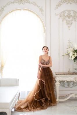 Вечернее платье Дымка шоколад