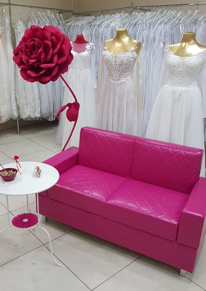 розовый диванчик